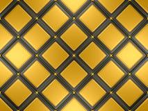 Negro y mosaico del oro Imagen de archivo