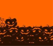Negro y naranja de Víspera de Todos los Santos Foto de archivo