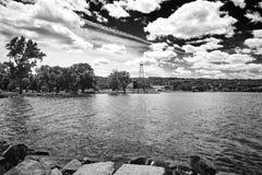 Negro y paisaje del wight Foto de archivo libre de regalías