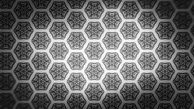 Negro y plantilla de Gray Ornament Wallpaper Pattern Design stock de ilustración