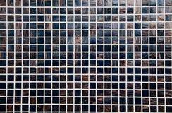 Negro y teja de mosaico del oro Imágenes de archivo libres de regalías