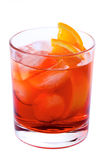 Negroni. Cocktail isolated on white background Royalty Free Stock Images