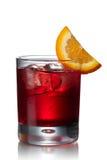 Negroni alcoholic cocktail Royalty Free Stock Photos
