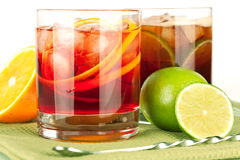 Negroni and Cuba Libre Royalty Free Stock Photos
