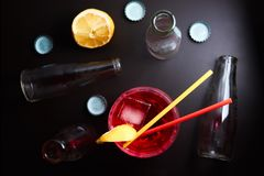 Negroni do cocktail Foto de Stock
