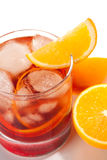Negroni with orange Stock Photos