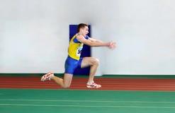Negryi Mykyta en la triple salto Foto de archivo libre de regalías