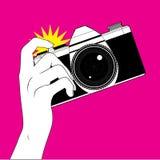 Nehmen einer Fotographie stock abbildung