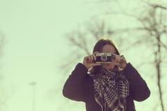 Nehmen einer Fotographie Stockfotografie