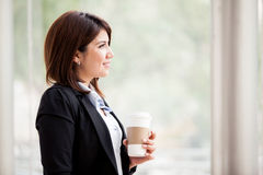 Nehmen einer Kaffeepause Stockfotos