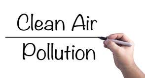 Nehmen einer Position gegen Luftverschmutzung Lizenzfreie Stockfotografie