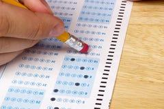 Nehmen einer Prüfung Lizenzfreies Stockbild