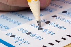 Nehmen einer Prüfung Lizenzfreies Stockfoto