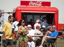 Nehmen eines Bruches am Coca- Colastab Lizenzfreie Stockbilder