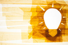 Nehmen Sie Art Light Bulb auf Stockfotos