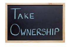 Nehmen Sie Besitz-Tafel Lizenzfreies Stockbild