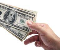 Nehmen Sie das Geld Stockbilder