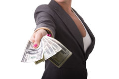 Nehmen Sie das Geld Lizenzfreie Stockbilder