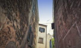 Nehmen Sie das Labyrinth von alten Straßen heraus Stockbild