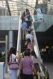 Nehmen Sie die Aufzugskunden in SHENZHEN Stockbilder