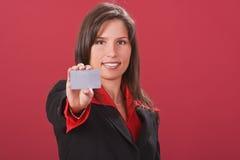 Nehmen Sie die Kreditkarte Lizenzfreie Stockfotos