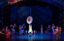 Nehmen Sie die Regenschirm-akrobatische showBaixi Traum-Nacht Lizenzfreie Stockbilder