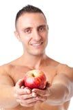 Nehmen Sie diesen Apfel stockfotografie