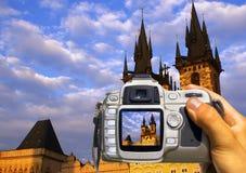 Nehmen Sie ein Foto von Prag Stockfotografie
