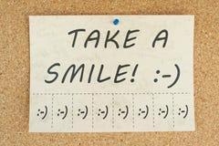 Nehmen Sie ein Lächeln Stockfotografie