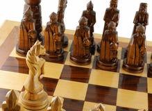 Nehmen Sie ein Schachpferd in Angriff Stockfotos