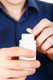 Nehmen Sie eine Pillennahaufnahme Lizenzfreies Stockbild