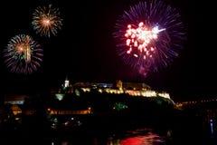 Nehmen Sie Festival 2015 - Feuerwerke für das Öffnen heraus Lizenzfreie Stockfotos
