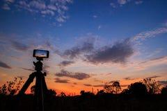 Nehmen Sie Foto oder timelapse durch Mobile Stockfotografie