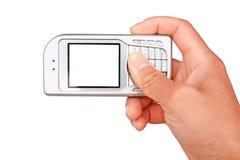 Nehmen Sie Fotos durch Mobile Stockbilder