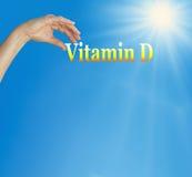 Nehmen Sie Ihr Vitamin D lizenzfreie stockbilder