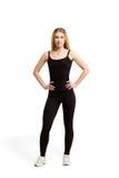 Nehmen Sie lokalisierte Frau, Gewichtsverlust, in guter Verfassung ab Lizenzfreie Stockfotos