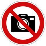 Nehmen Sie nicht das Fotovektorzeichen, das auf weißem Hintergrund lokalisiert wird lizenzfreie stockbilder