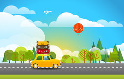 Nehmen Sie reisendes Konzept der Ferien Lizenzfreies Stockfoto