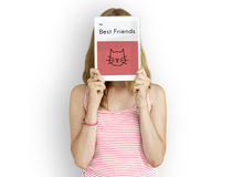 Nehmen Sie Tier-beste Freunde Cat Icon an Stockbilder