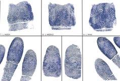 Nehmen Sie von Karte Fingerabdrücke Lizenzfreies Stockbild
