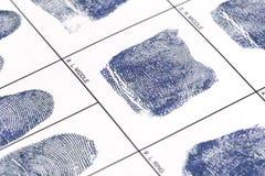 Nehmen Sie von Karte Fingerabdrücke Lizenzfreies Stockfoto