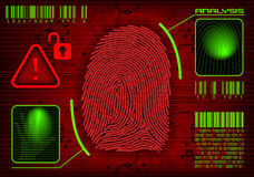 Nehmen Sie von Zugriff Fingerabdrücke Stockbilder