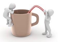 Nehmen von Kaffee vektor abbildung