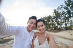 Nehmen von Selfie mit Soulmate stockfotografie