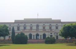 Nehru minnes- museumarkiv New Delhi Indien arkivfoton