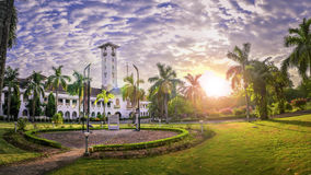 Nehru Muzealny wschód słońca IIT Kharagpur Zdjęcia Stock