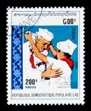Nehru 200, serie di Jawaharlal Nehru, circa 1989 Fotografia Stock Libera da Diritti