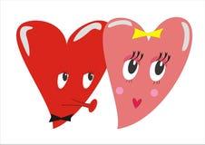 Nei cuori di amore royalty illustrazione gratis