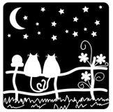 Nei gatti di amore Fotografia Stock