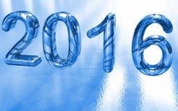 2016 nei numeri del ghiaccio Immagini Stock